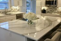 White Kitchen With Gray Quartz Countertops
