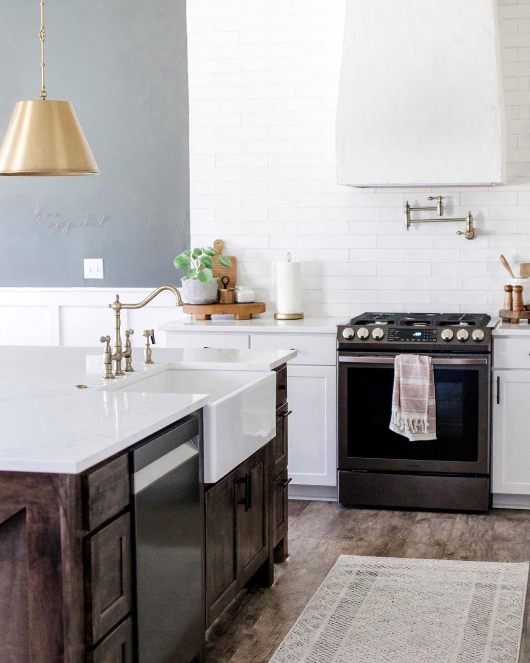 Farmhouse Kitchen White Appliances
