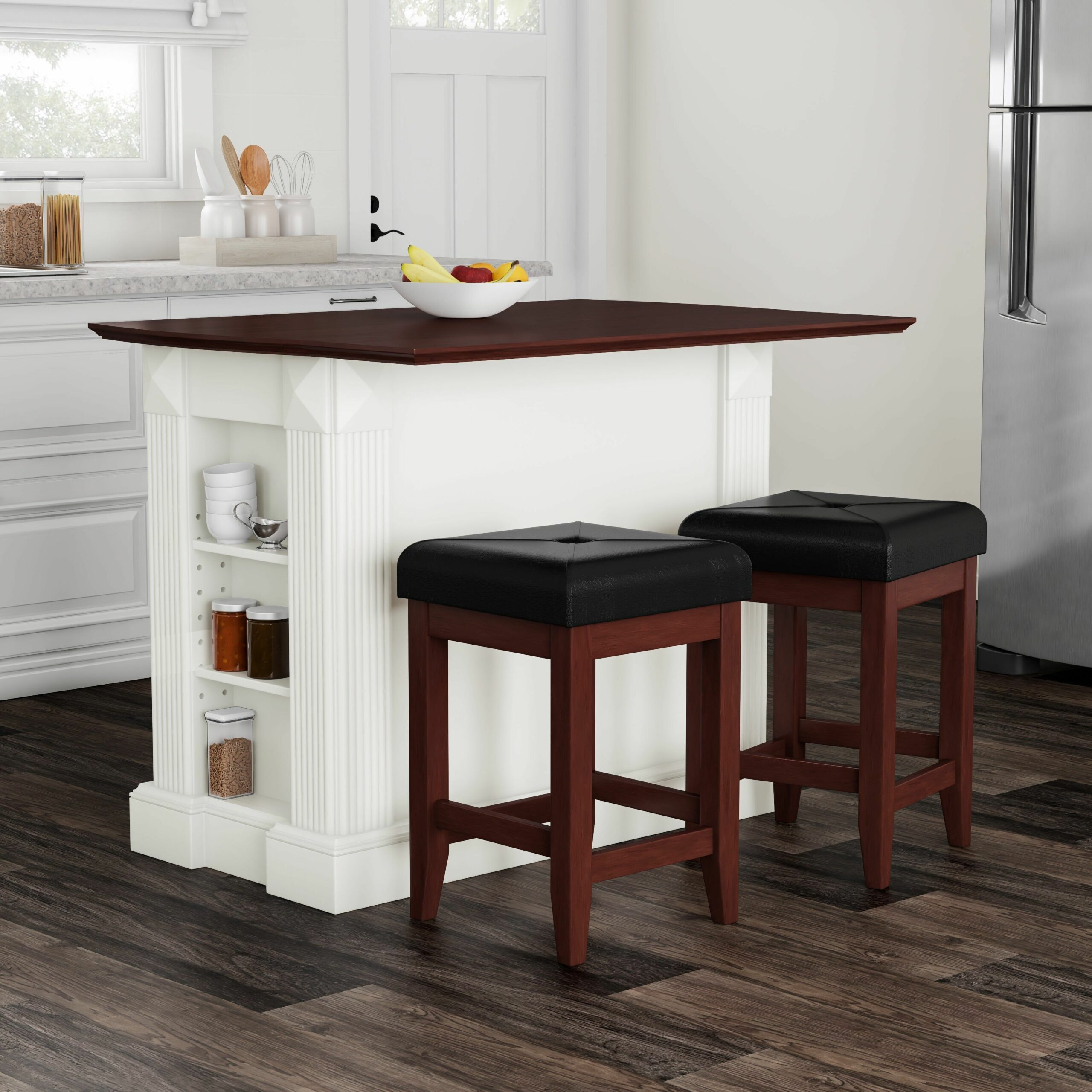 White Kitchen Islands With Stools