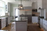 Kitchens With Gray Cabinets And Black Countertops