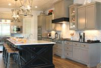 Kitchens With Dark Cabinets And White Island