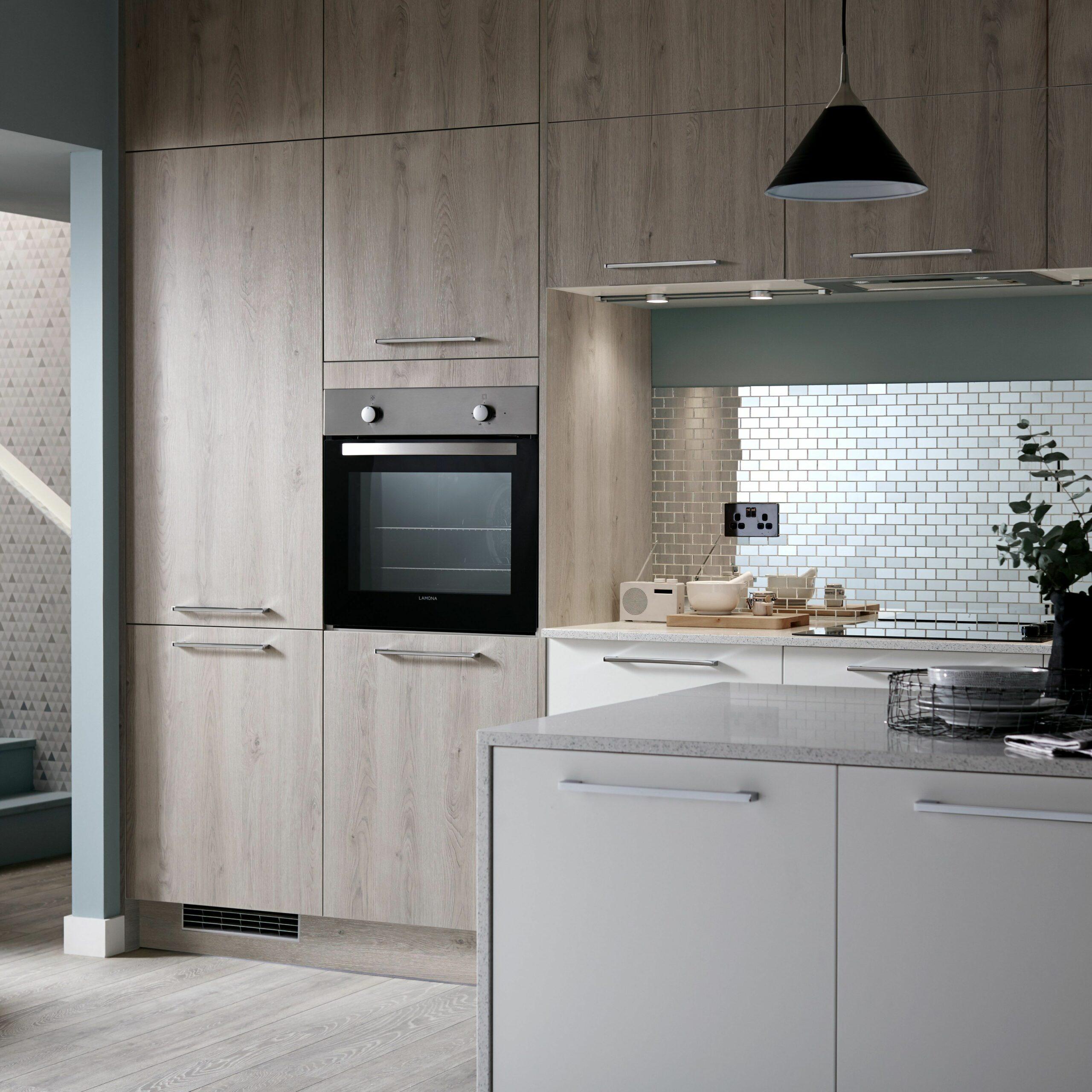 Oak Cabinets Kitchen Modern