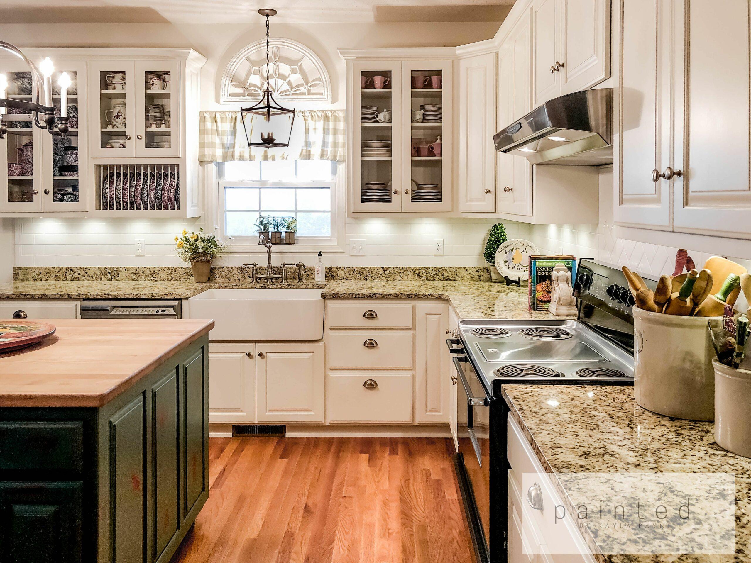 Farmhouse Kitchen With Honey Oak Cabinets