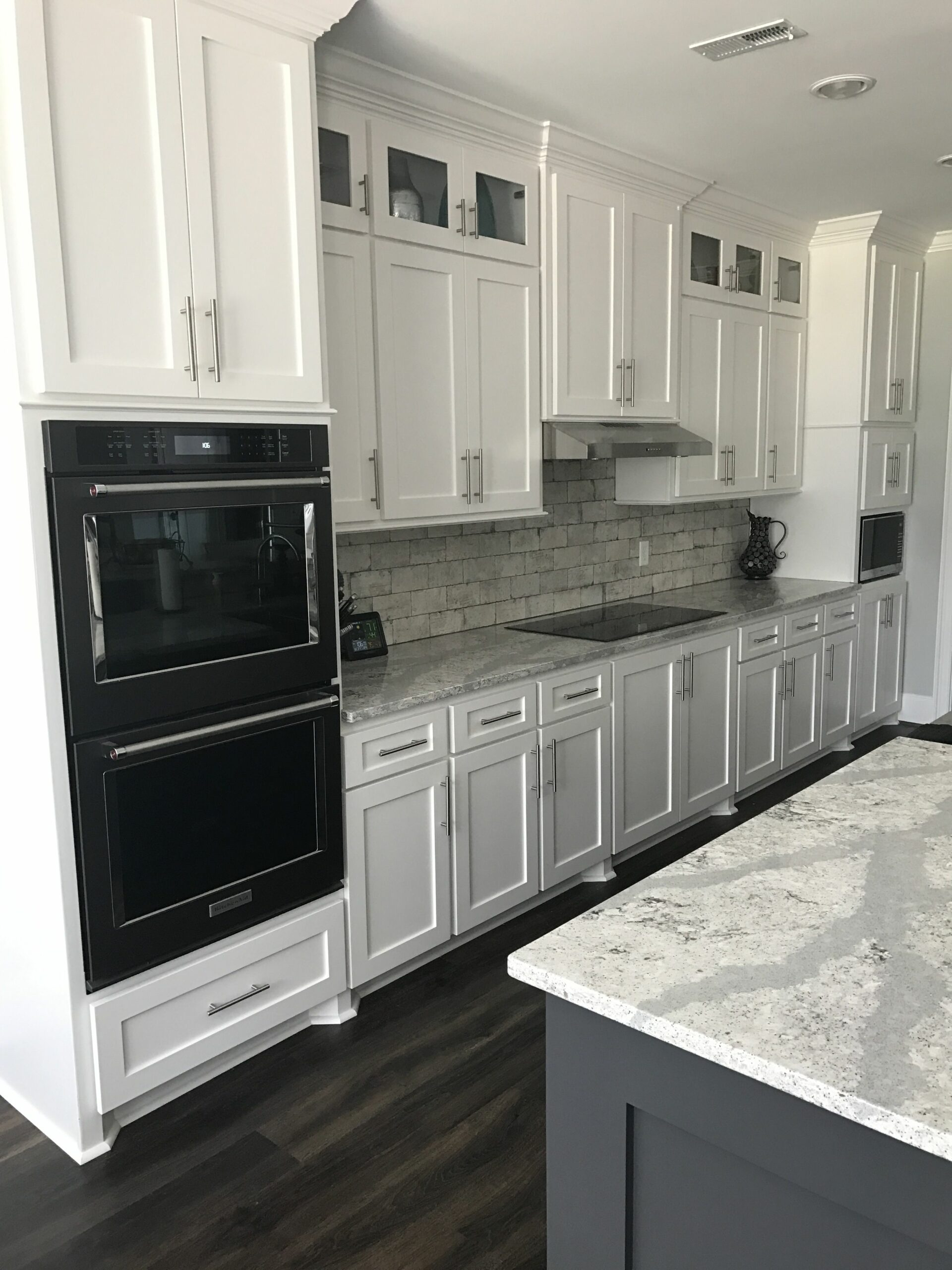 Modern Kitchen With Black Stainless Steel Appliances