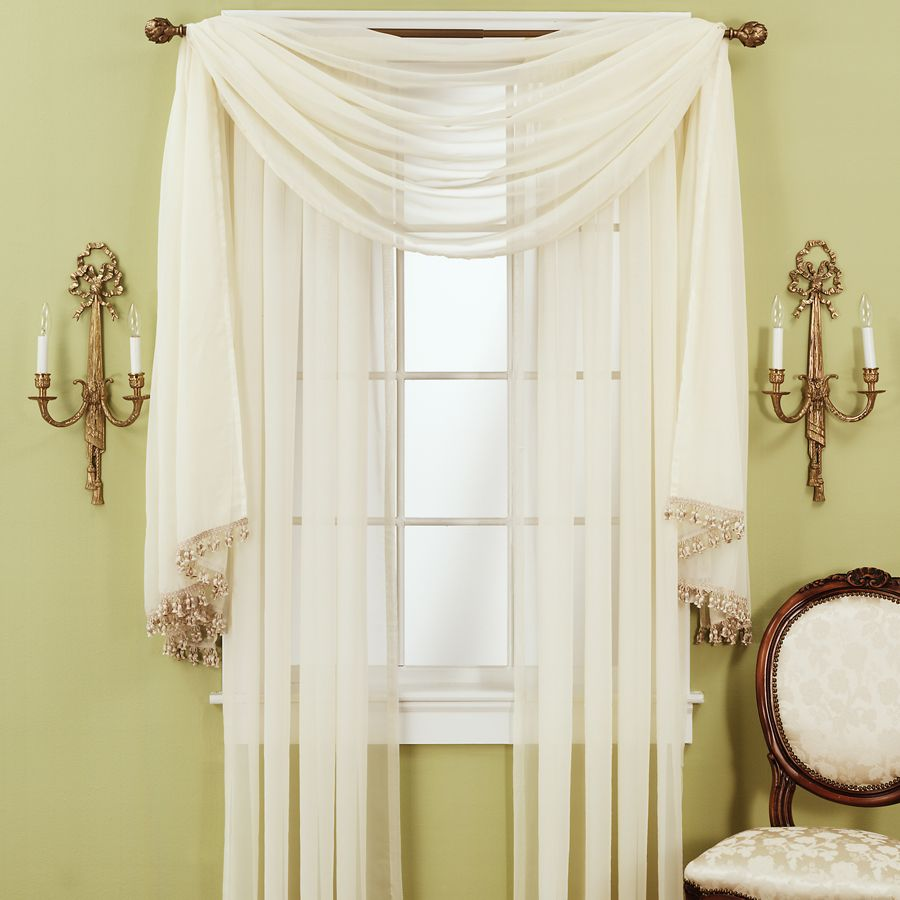 Jcpenney sheer curtains on sale for Home drapes and curtains