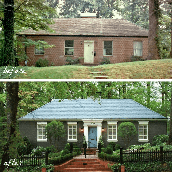 38 Homes That Turned Their Front Lawns Into Beautiful: Inspiring Before And After Exterior Remodel Projects To