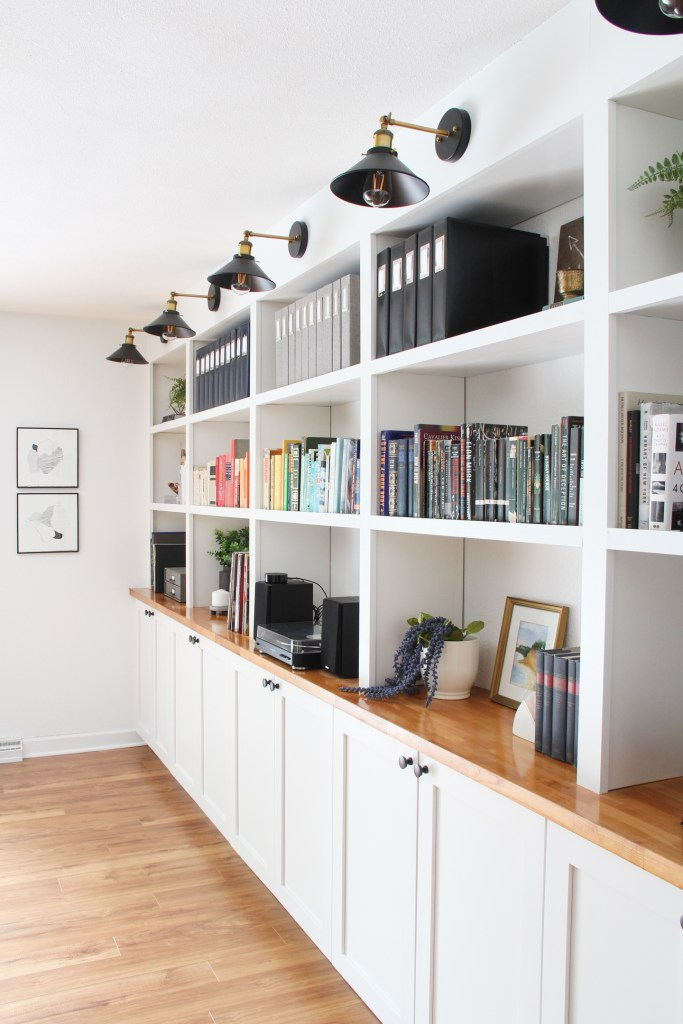 IKEA built-in hack for more living room storage