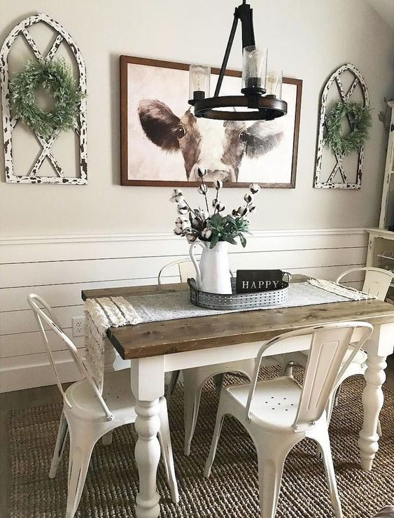 14 Cool Farmhouse Dining Room Decorating Ideas On A Budget on Farmhouse Dining Room Curtains  id=54463