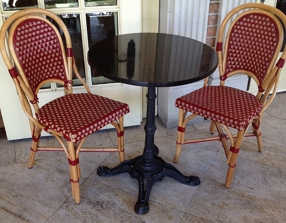 Rattan Wood Bistro Dining Chairs