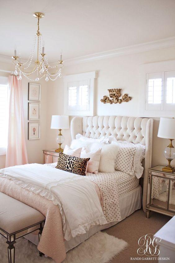 furniture bedrooms pink gold