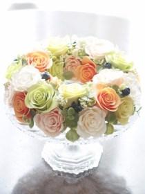 ソフトクレイ サラダのようなバラのリース