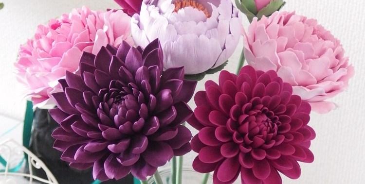 大輪の花 / クレイクラフト - クレイフラワー
