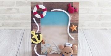 くまの水兵さん☆海の写真たて~夏休み子供粘土教室 / 北九州市小倉クレイクラフト教室 Clay Craft* Decorocca