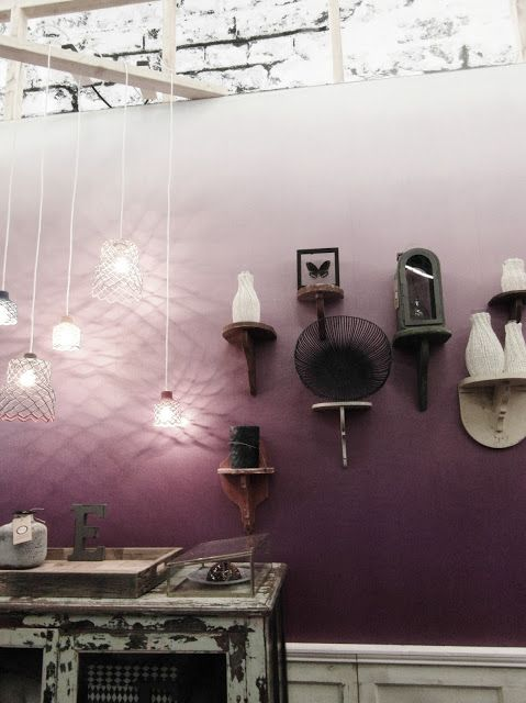 Ombre wall... stunning! I think I need one. Ombre is becoming big in 2013 in clothes nails,hair and even walls