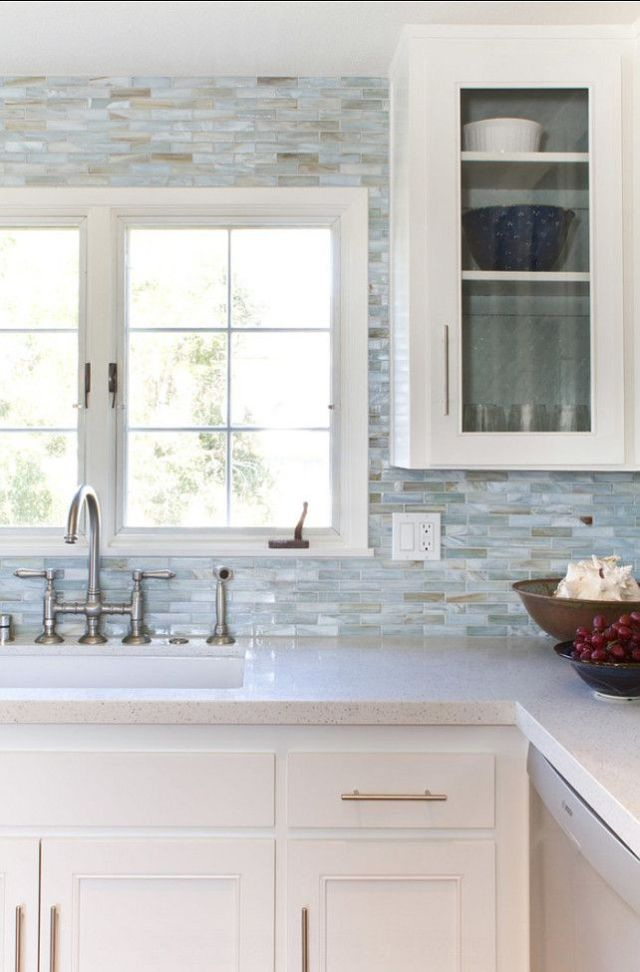 """This tile is a great glass collection by """"Stone and Pewter Accents"""" called Agate, color is Lucca Pearl. I am in love with it!"""