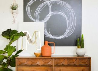 Create unique abstract wall art with Sharpie + wood.: