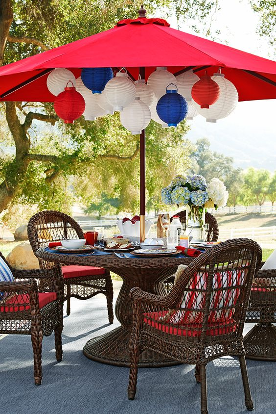 Who needs Fourth of July fireworks when you've got these lanterns from Pier 1? Thanks to LED bulbs, their patriotic colors glow brilliantly inside or out—wherever you'd like to hang them. After all, the holiday is about celebrating freedom.: