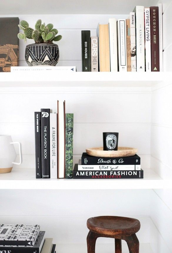 Decorating with books shelf styling