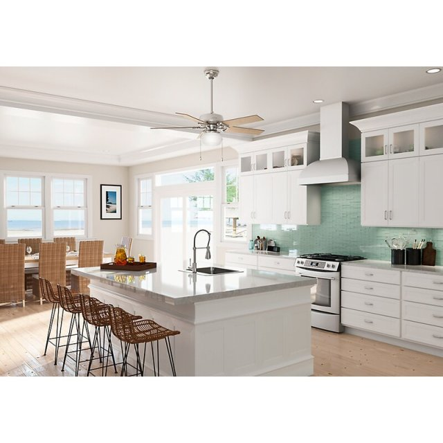 kitchen with ceiling fan