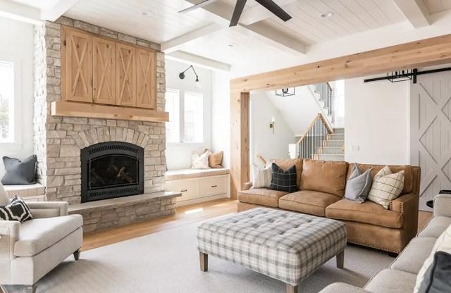 modern farmhouse living room