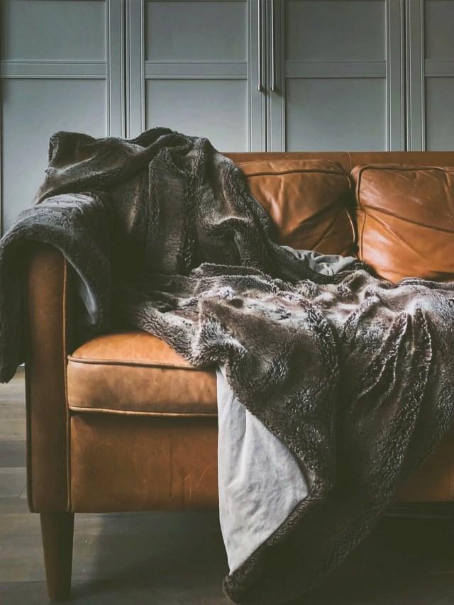 Blanket on a sofa