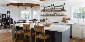 Kitchen with island table
