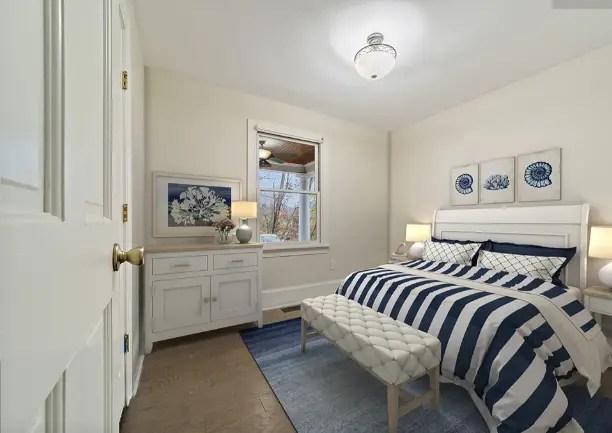 Bedroom with floor plan