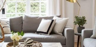 Bright-designed living room