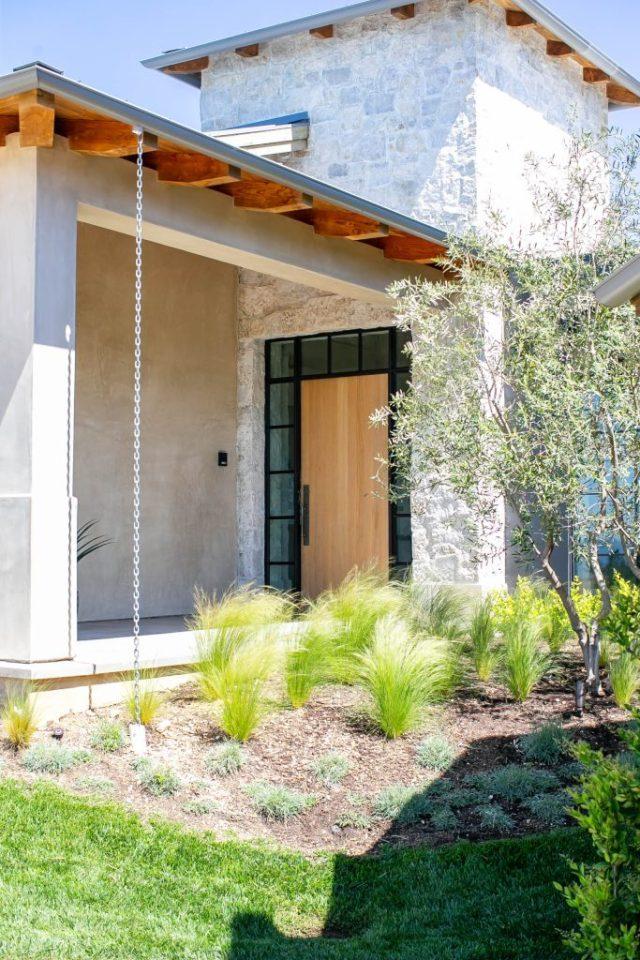 House garden with a storage