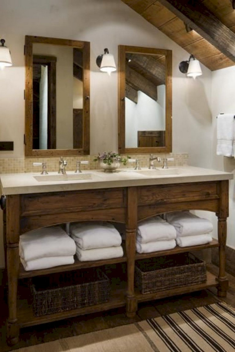 25+ Marvelous Modern Farmhouse Bathroom Vanity Ideas ... on Bathroom Ideas Modern Farmhouse  id=14630