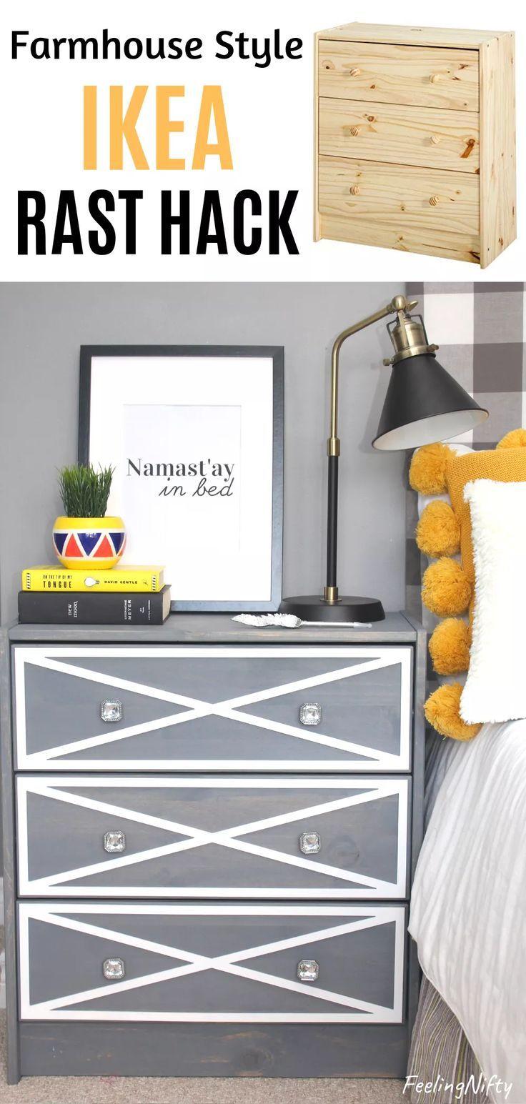 Decor Hacks Stunning Ikea Rask Nightstand Hack With