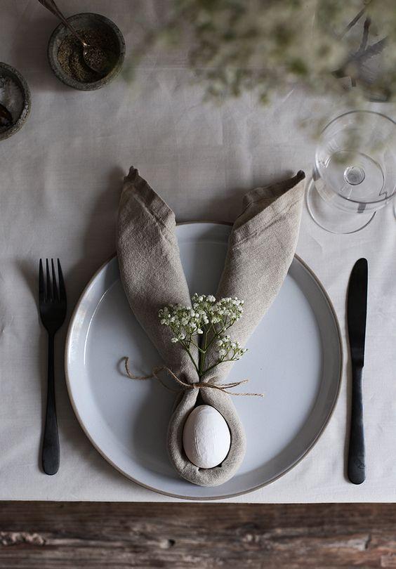 Påske borddækning