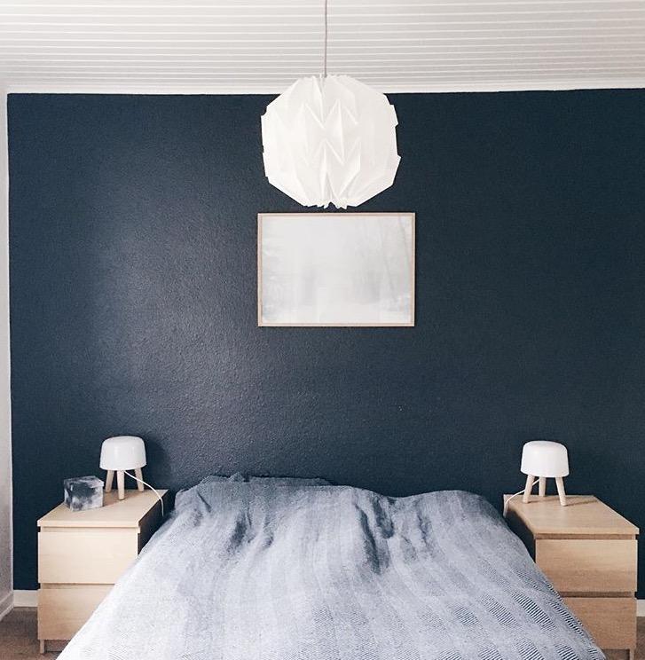 Mit soveværelse med farver før