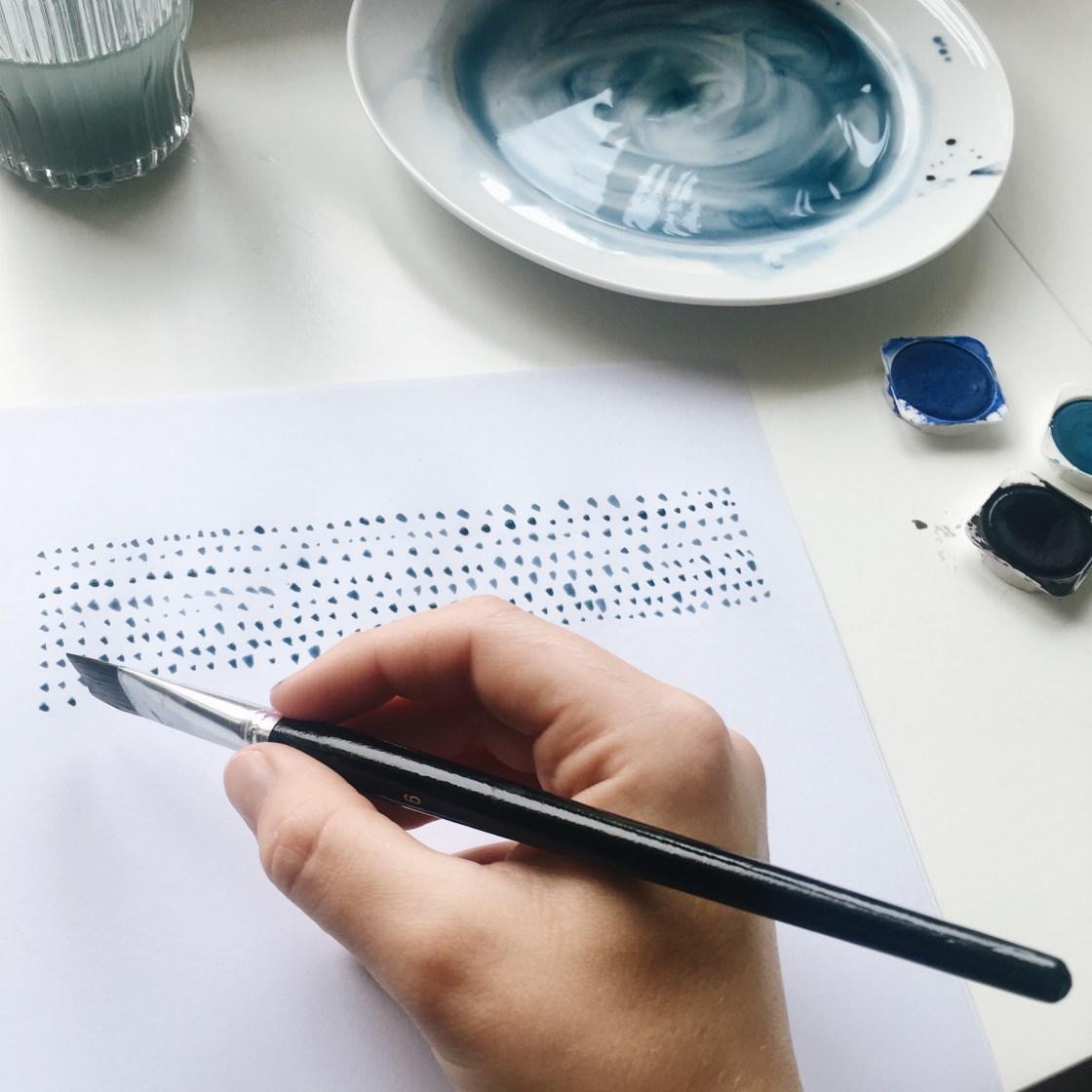 DIY billeder med akvarelmaling