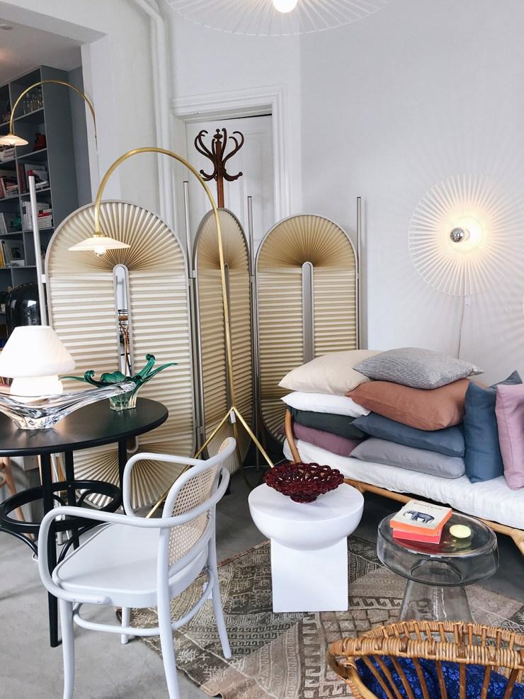 interiør butik med nyt og gammelt