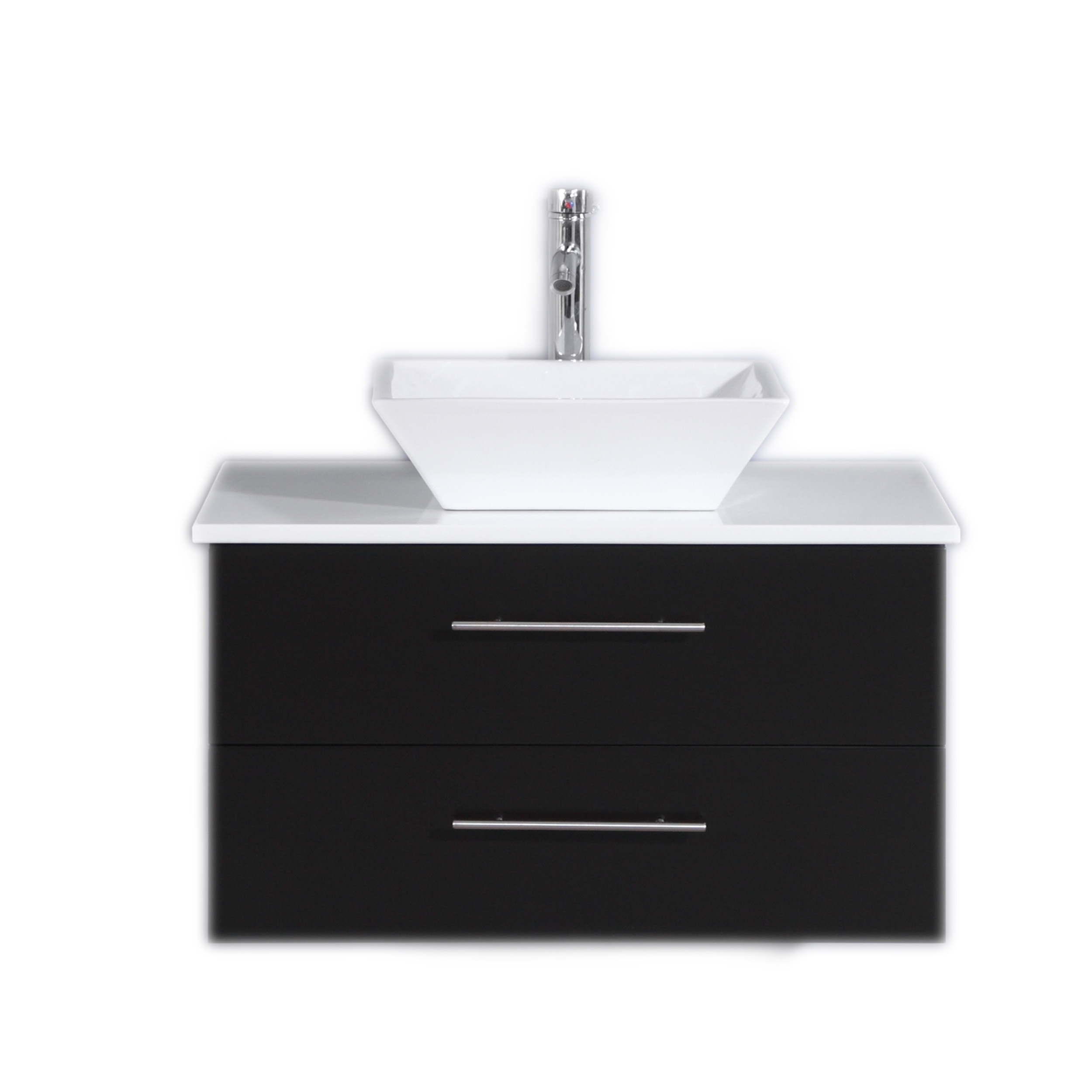 totti wave 30 inch espresso modern bathroom vanity with counter top and sink
