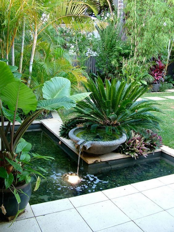 Mesmerizing Tropical Backyard Ideas to Freshen Your ... on Tropical Backyards  id=27117