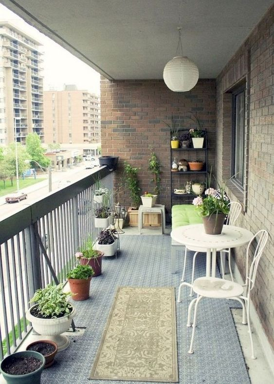 Apartment Patio Ideas to Beautify Your Small Space ... on Apartment Backyard Patio Ideas id=55878