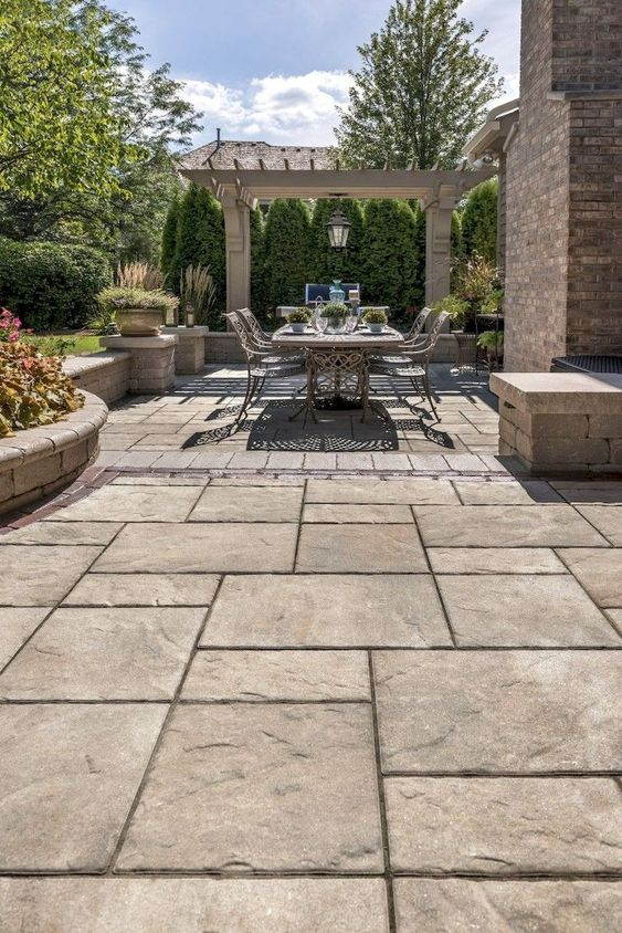 Affordable Patio Pavers Ideas for Your Beautiful Outdoor ... on Rock Patio Designs  id=11958