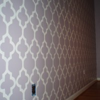 Claire's Toddler Room (Part II): A take on another's wallpaper template.