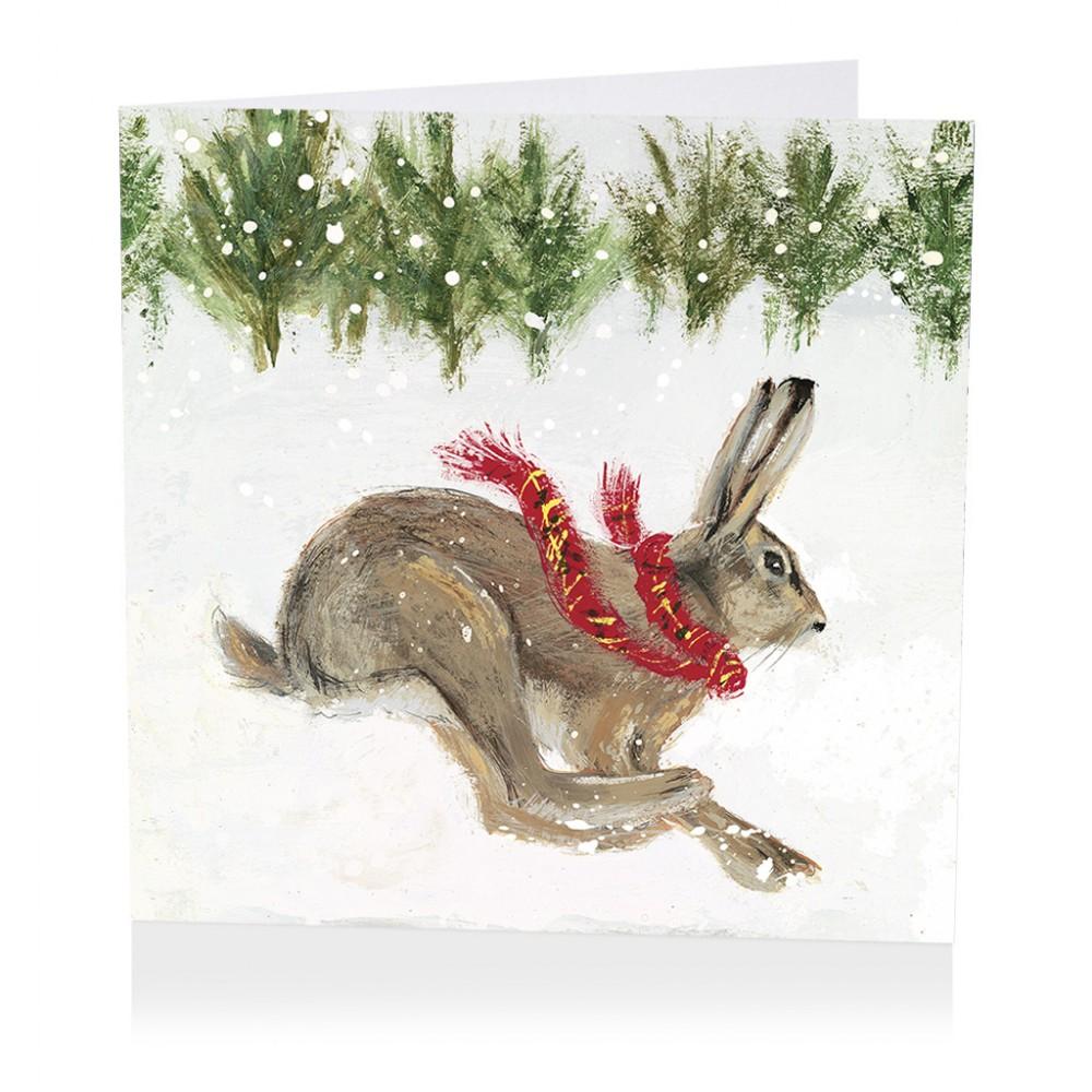 Christmas Hare Christmas Card