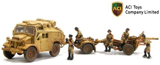 MT6066 British Quad Gun Tractor w 25-Pounder Field Gun & Crew - 01a