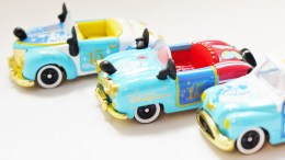 Tomica Tokyo Disney Sea 15th Anniversary - Mickey & Donald Vehicle Set - Full 3pc - 04