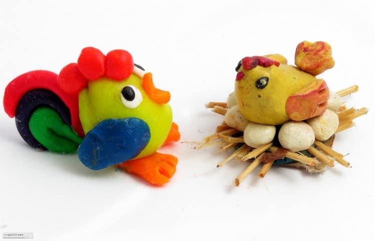 Kyckling och kuk plasticine