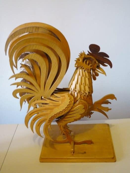 Rooster Kayu - Simbol 2019