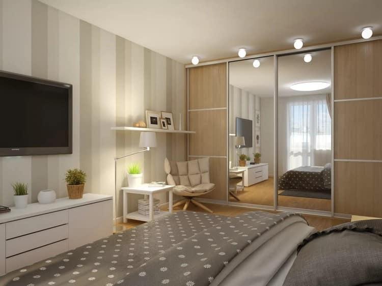 Entwurf eines schmalen Schlafzimmers von 12 m² Entwurf eines ...