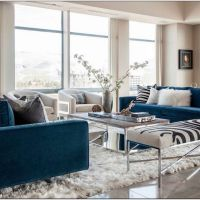 18 Spectacular White And Blue Living Room Ideas For Modern Home 23