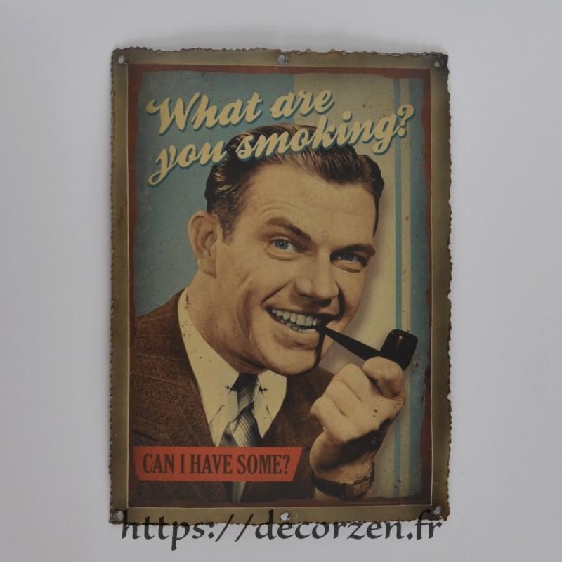 replique d affiche vintage tabac sur une tole recyclee