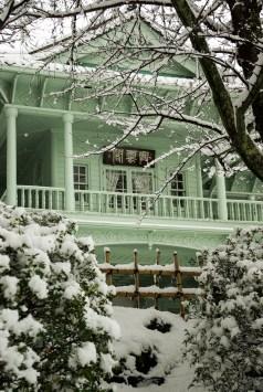 Matsue japon shimane hiver neige chateau kounkaku kouunkaku