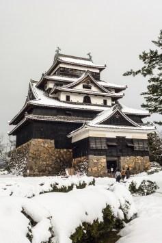 matsue château shimane neige